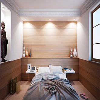 Decoración de un dormitorio iluminado