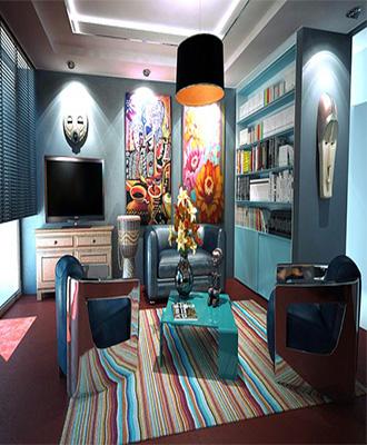 decoración de un salón moderno