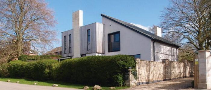 Pintura de fachadas para casas modernas
