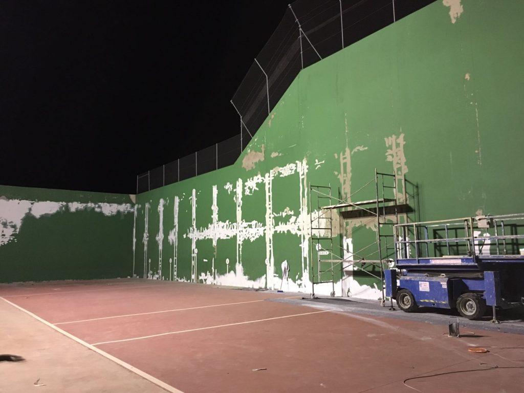 Antes de arreglar instalación deportiva.